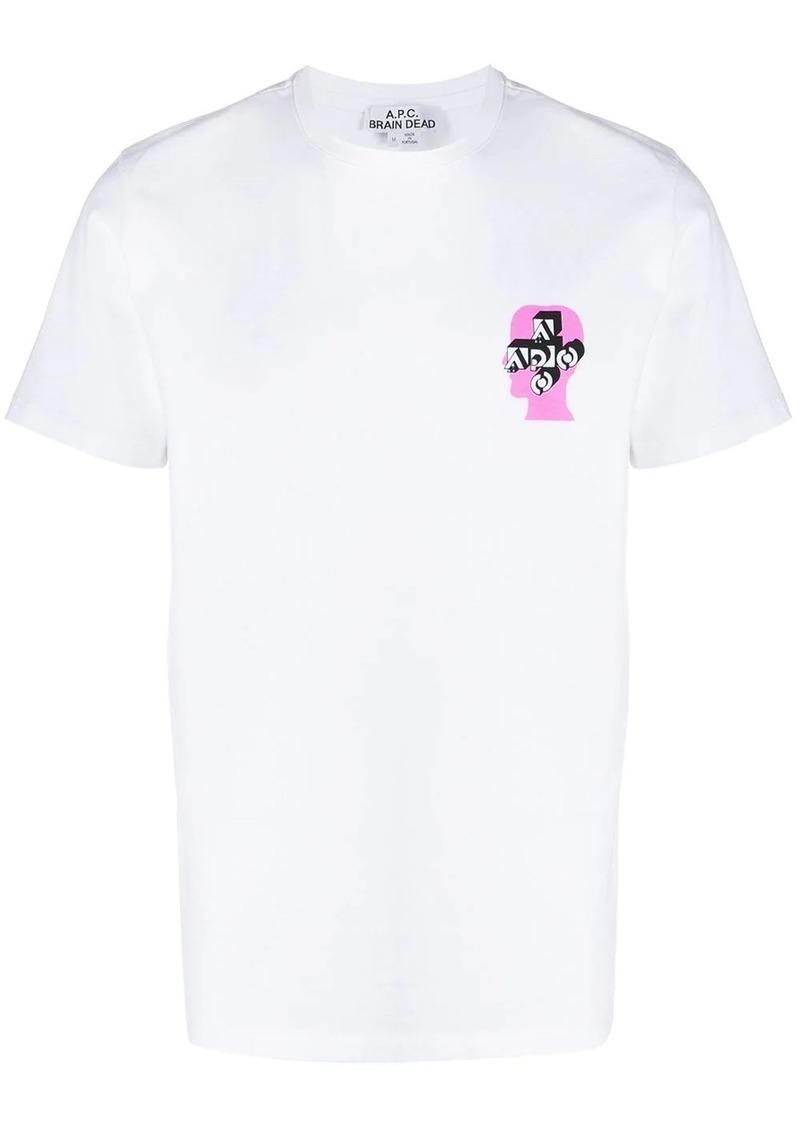 A.P.C. x Brain Dead logo printed T-shirt