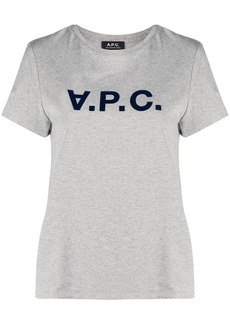 A.P.C. logo-stamp cotton T-shirt