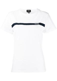 A.P.C. stripe trim T-shirt