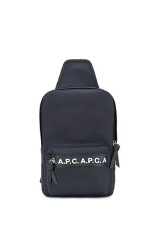 A.P.C. logo-tape sling bag