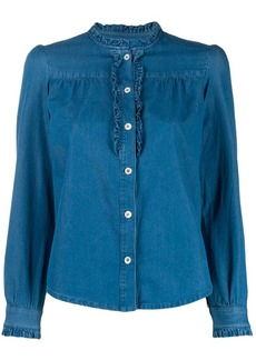 A.P.C. long-sleeve denim blouse