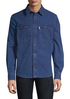 A.P.C. Long-Sleeve Denim Button-Down Shirt