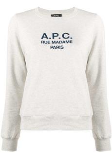 A.P.C. long sleeve logo sweater