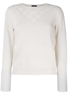 A.P.C. long sleeved perforated top