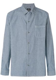 A.P.C. Luca striped denim shirt