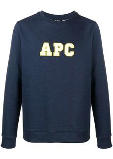 A.P.C. Malcom embroidered logo sweatshirt
