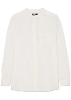 A.P.C. Marie Striped Satin Shirt