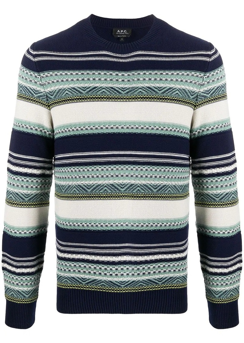 A.P.C. Maxence striped jacquard jumper