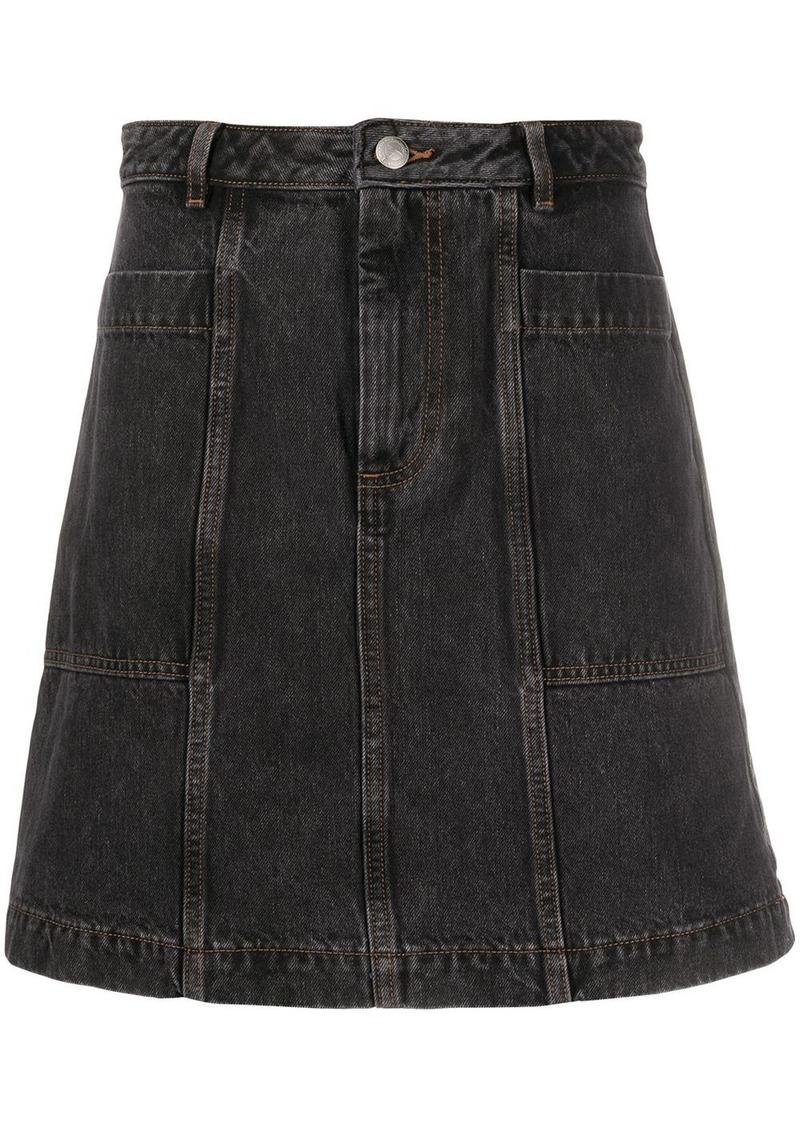 A.P.C. mid rise denim skirt