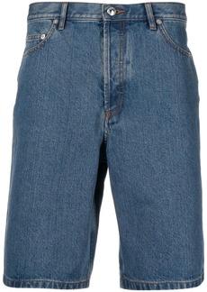 A.P.C. mid-wash denim shorts