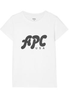 A.P.C. Nancy Printed Cotton-jersey T-shirt