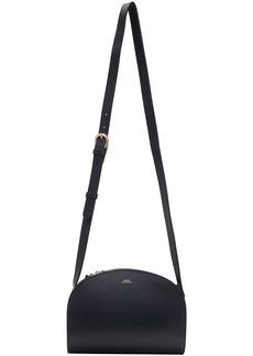 A.P.C. Navy Demi-Lune Bag