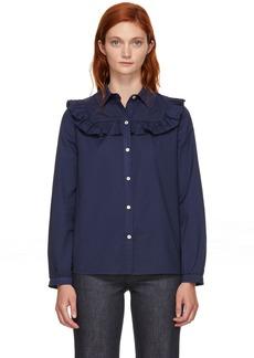 A.P.C. Navy Memphis Shirt
