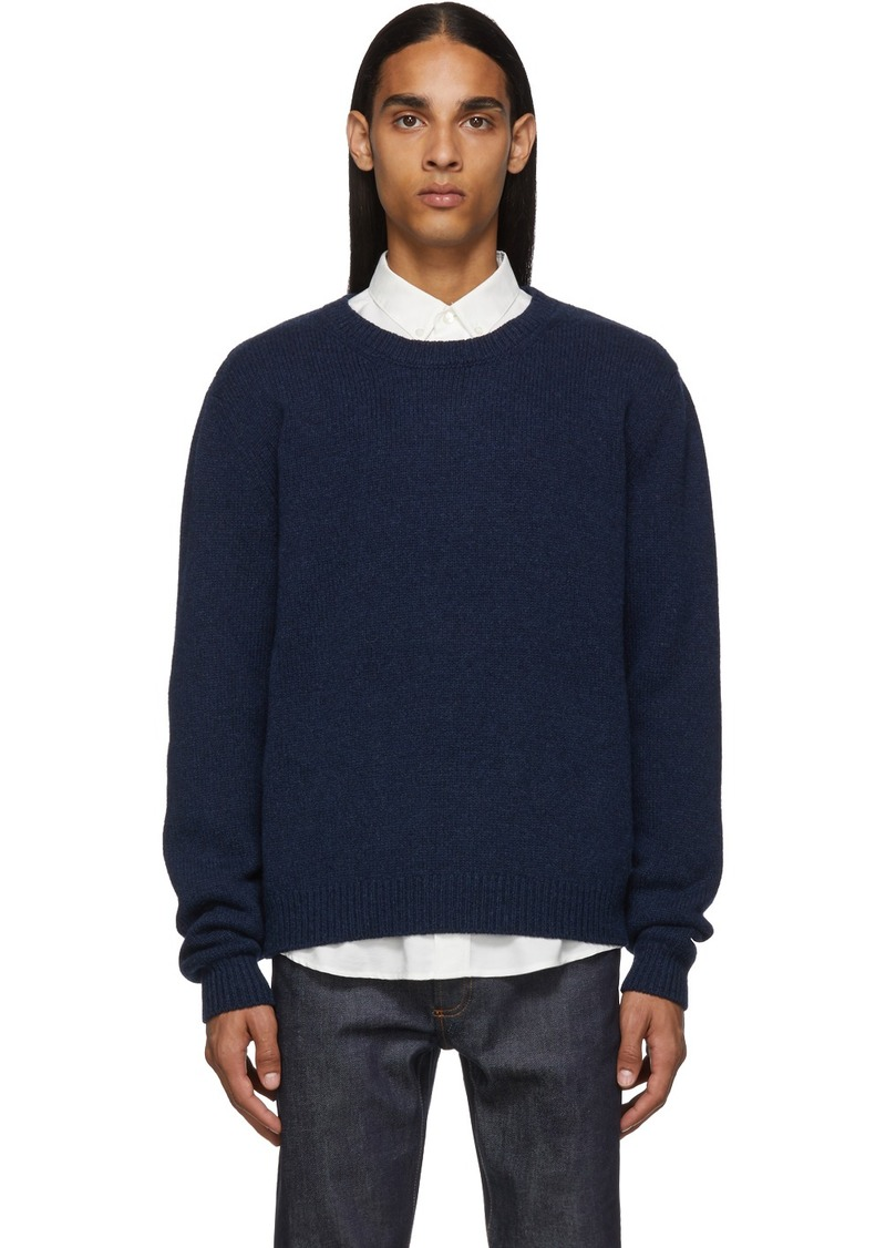 A.P.C. Navy Pullover Sweater