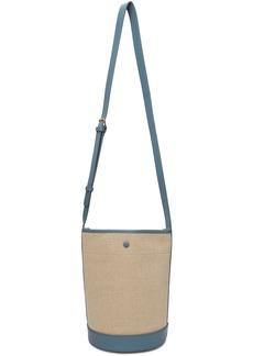 A.P.C. Off-White & Blue Hélène Bucket Bag