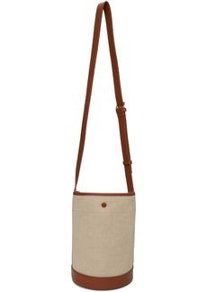 A.P.C. Off-White & Brown Hélène Bucket Bag