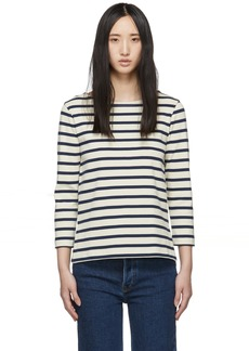 A.P.C. Off-White & Navy Opening T-Shirt
