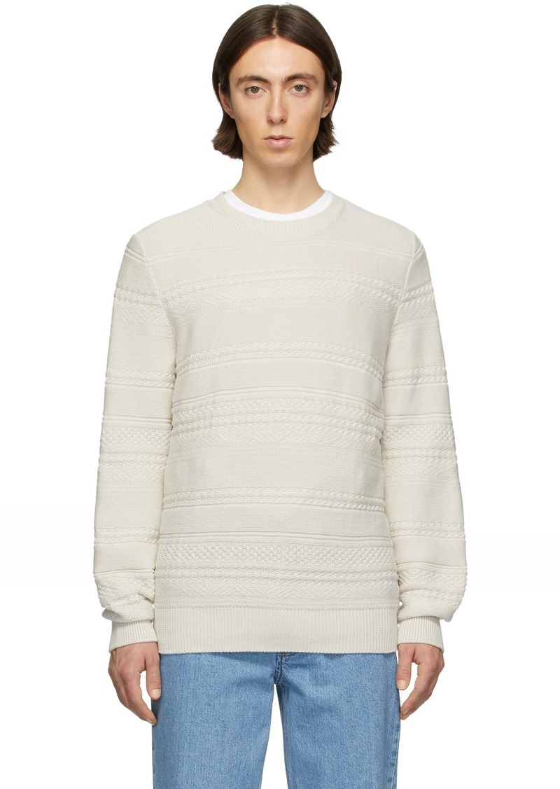 A.P.C. Off-White Nicolas Sweater