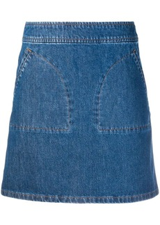 A.P.C. patch pocket denim skirt