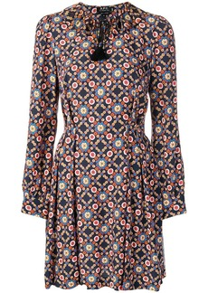 A.P.C. patterned long-sleeved dress