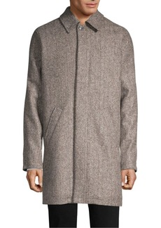 A.P.C. Pete Checkered Overcoat