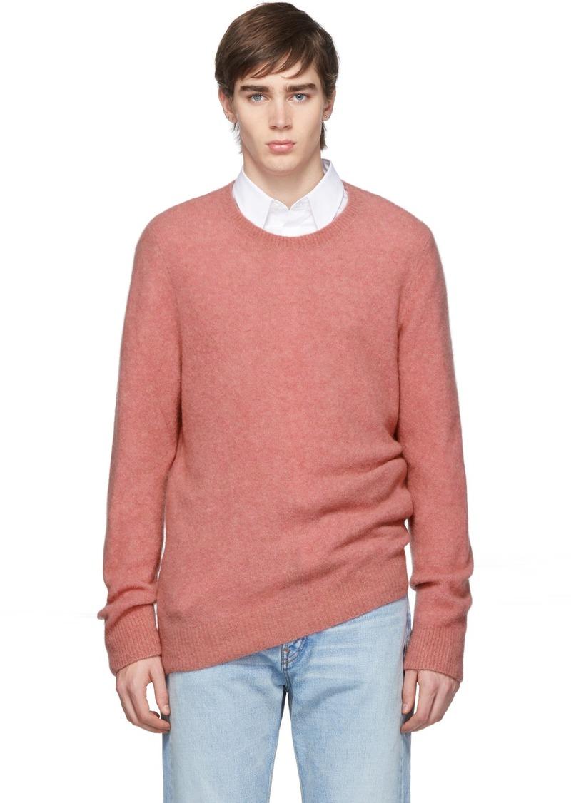A.P.C. Pink Lorenz Crewneck Sweater