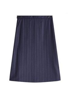 A.P.C. Pinstriped Wool Skirt