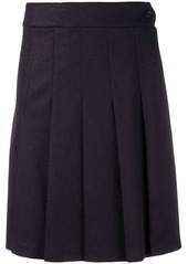 A.P.C. pleated flared skirt