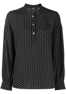 A.P.C. polka dot loose fit blouse