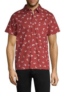 A.P.C. Printed Button-Down Shirt