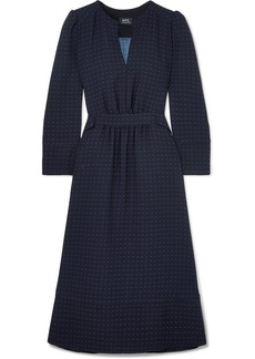 A.P.C. Printed Crepe Midi Dress