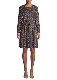 A.P.C. Printed Drawstring Dress