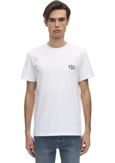 A.P.C. Raymond Logo Detail Cotton T-shirt