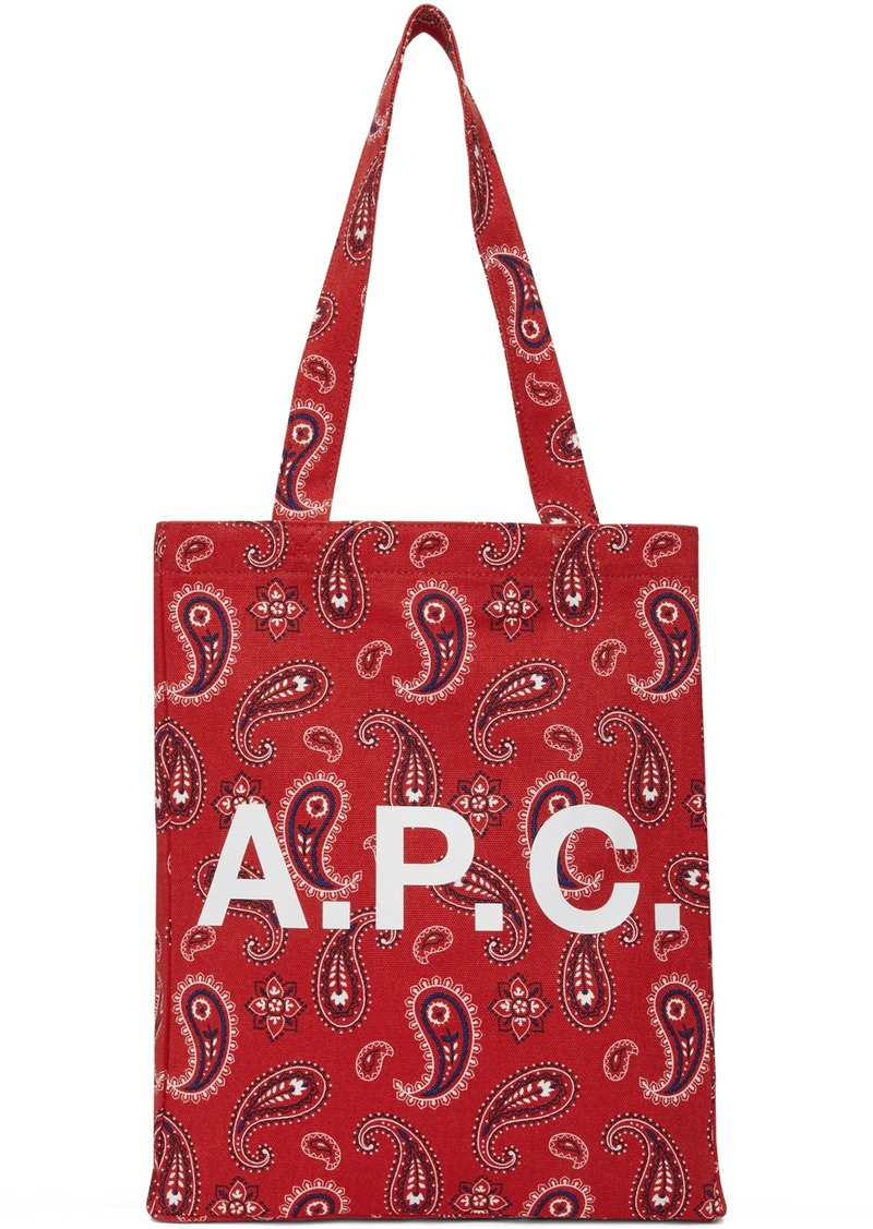 A.P.C. Red Lou Tote
