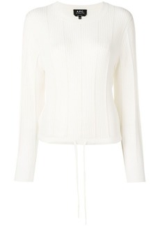 A.P.C. ribbed long sleeve top
