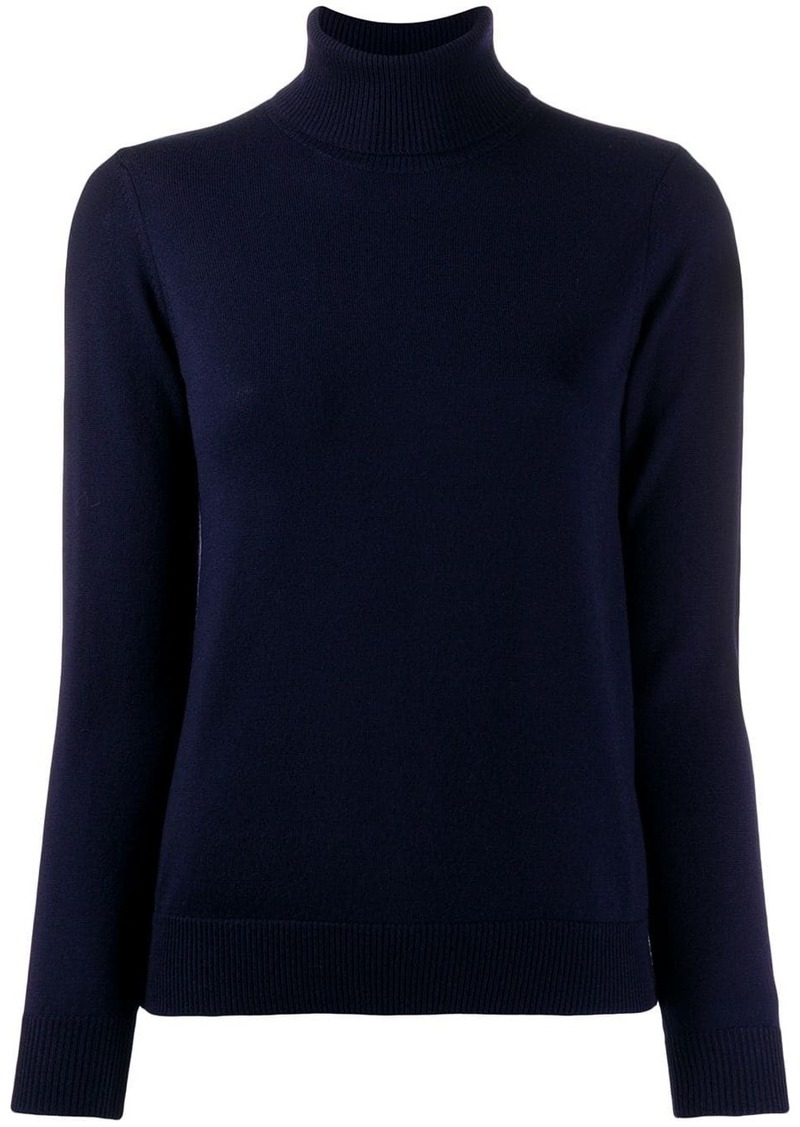 A.P.C. ribbed roll neck jumper