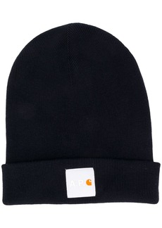 A.P.C. x Carhartt WIP ribbed-knit logo patch beanie