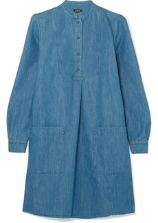 A.P.C. Robe Smoking Denim Mini Dress