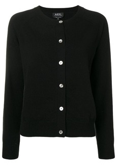 A.P.C. round neck cardigan