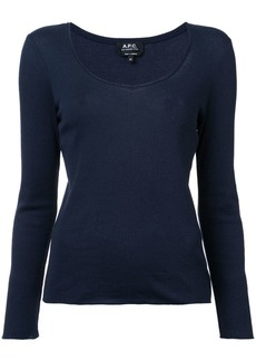 A.P.C. round neck longsleeved T-shirt