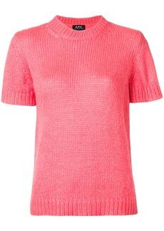 A.P.C. round neck short sleeve sweater