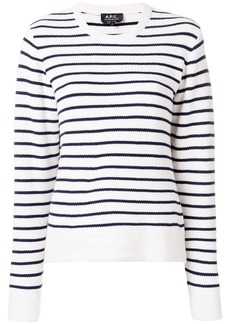 A.P.C. round neck striped knit top