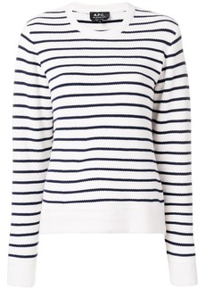 A.P.C. round neck striped jumper