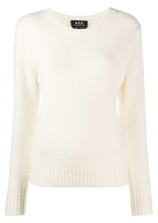 A.P.C. round neck wool jumper