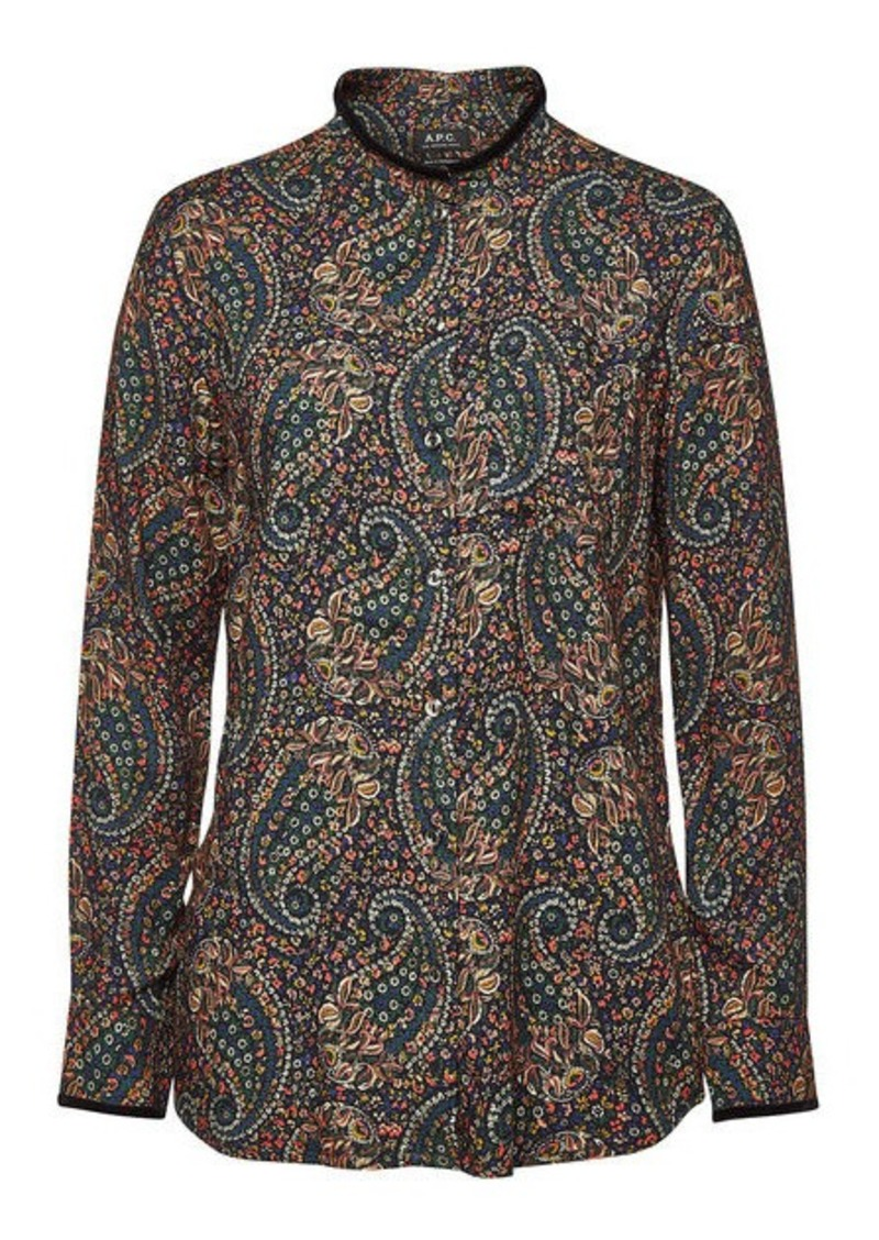 A.P.C. Ruby Printed Top