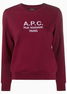 A.P.C. Rue Madame Paris sweatshirt