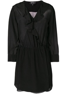 A.P.C. ruffle trim mini dress