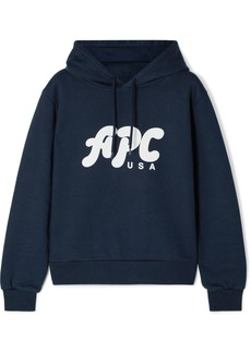 A.P.C. Sally Printed Cotton-blend Jersey Hoodie