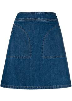 A.P.C. short A-line skirt