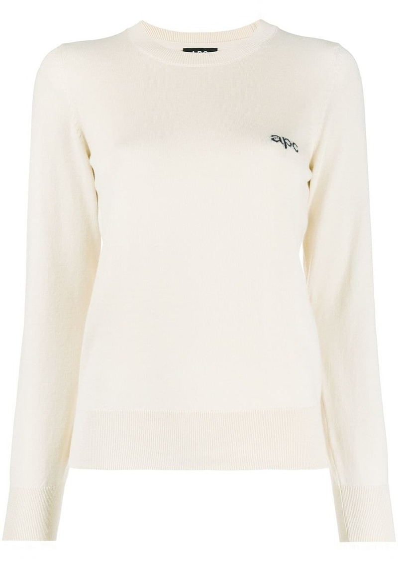 A.P.C. signature fine gauge jumper